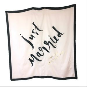 Kate Spade Just Married silk square scarf NWT